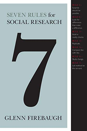 9780691135670: Seven Rules for Social Research