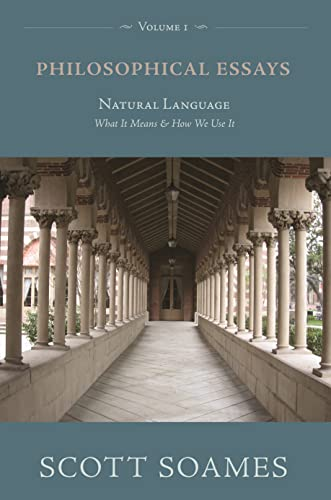 9780691136813: Philosophical Essays, Volume 1: Natural Language: What It Means and How We Use It