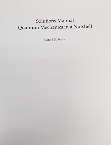 9780691144160: Solutions Manual to Quantum Mechanics I
