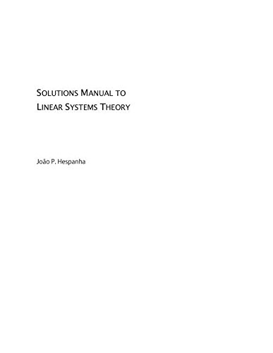 9780691145693: Solutions Manual to Linear Systems Theo