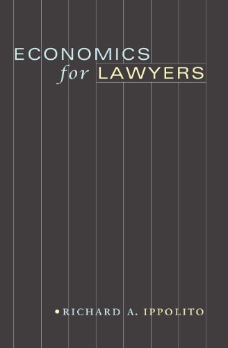 9780691146560: Economics for Lawyers