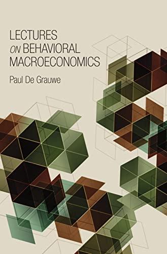 9780691147390: Lectures on Behavioral Macroeconomics