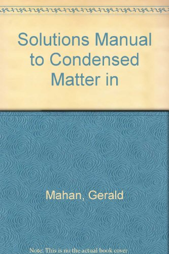9780691148991: Solutions Manual to Condensed Matter in