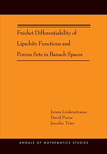 9780691153551: Fréchet Differentiability of Lipschitz Functions and Porous Sets in Banach Spaces (AM-179) (Annals of Mathematics Studies)
