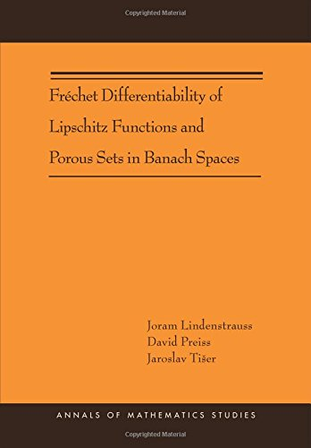 9780691153568: Fréchet Differentiability of Lipschitz Functions and Porous Sets in Banach Spaces (AM-179) (Annals of Mathematics Studies)