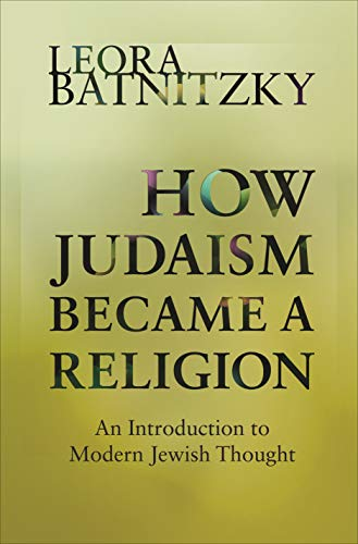 9780691160139: How Judaism Became a Religion: An Introduction to Modern Jewish Thought