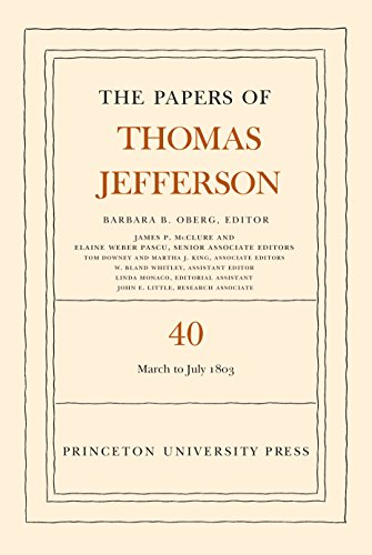 9780691160375: The Papers of Thomas Jefferson, Volume 40: 4 March to 10 July 1803