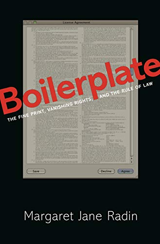 9780691163352: Boilerplate: The Fine Print, Vanishing Rights, and the Rule of Law