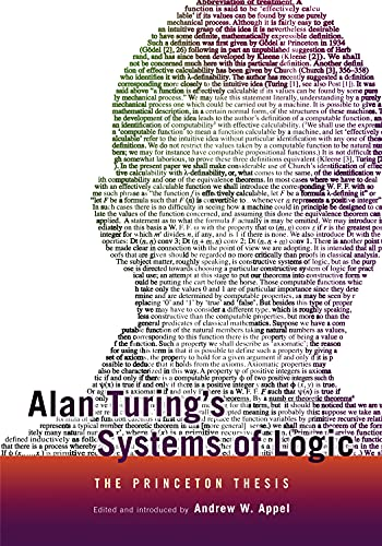 9780691164731: Alan Turing's Systems of Logic: The Princeton Thesis