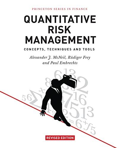 9780691166278: Quantitative Risk Management: Concepts, Techniques and Tools (Princeton Series in Finance)