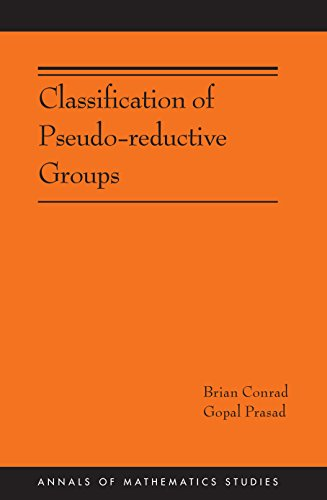 9780691167923: Classification of Pseudo-reductive Groups (AM-191) (Annals of Mathematics Studies)