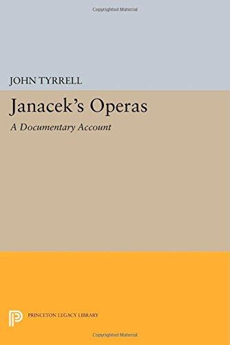 9780691601427: Janácek's Operas: A Documentary Account (Princeton Legacy Library)