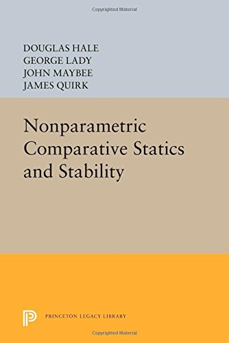 9780691603186: Nonparametric Comparative Statics and Stability (Princeton Legacy Library)