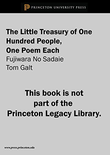 9780691614335: Little Treasury Of One Hundred People, One Poem Each