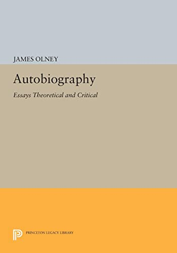 9780691616261: Autobiography: Essays Theoretical and Critical
