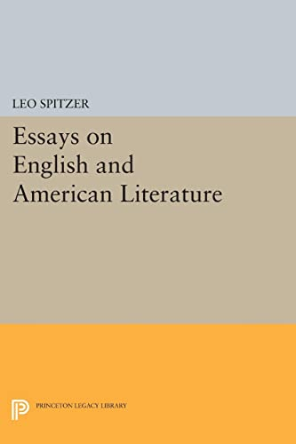 9780691622637: Essays on English and American Literature (Princeton Legacy Library)
