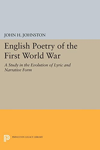 9780691625034: English Poetry of the First World War