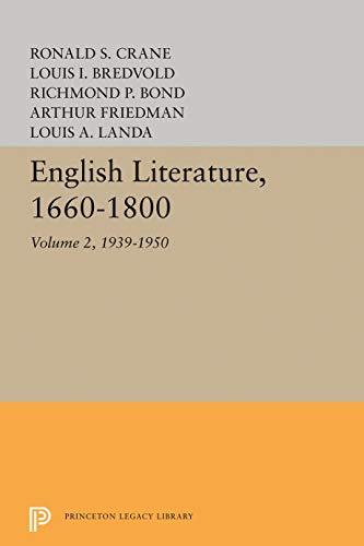 English Literature, Volume 2: 1939-1950: Louis A. Landa