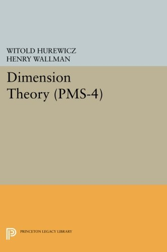 9780691627748: Dimension Theory (PMS-4) (Princeton Mathematical Series)