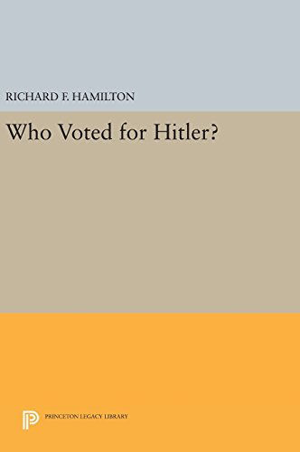 9780691642017: Who Voted for Hitler? (Princeton Legacy Library)