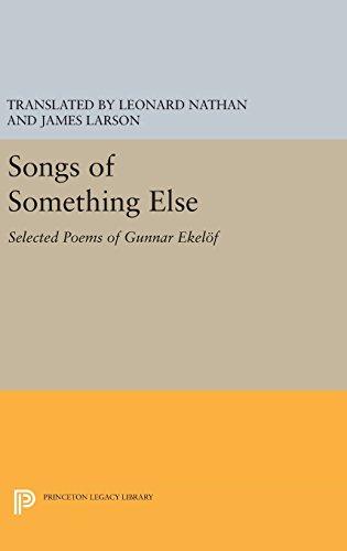 9780691642123: Songs of Something Else: Selected Poems of Gunnar Ekelof (Lockert Library of Poetry in Translation)