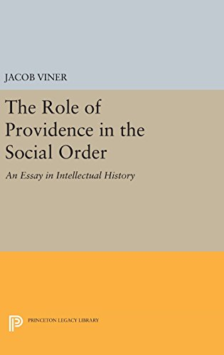 9780691644028: The Role of Providence in the Social Order: An Essay in Intellectual History (Princeton Legacy Library)