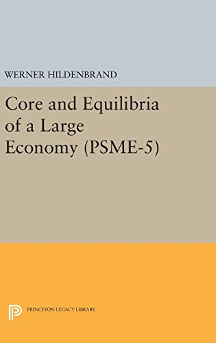 9780691645766: Core and Equilibria of a Large Economy. (PSME-5) (Princeton Studies in Mathematical Economics)
