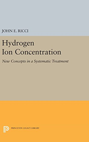 9780691653303: Hydrogen Ion Concentration: New Concepts in a Systematic Treatment (Princeton Legacy Library)