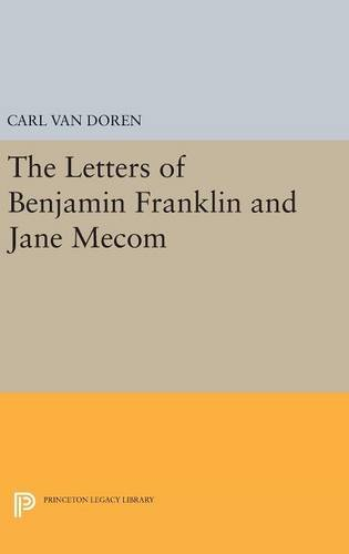9780691653426: Letters of Benjamin Franklin and Jane Mecom (Princeton Legacy Library)