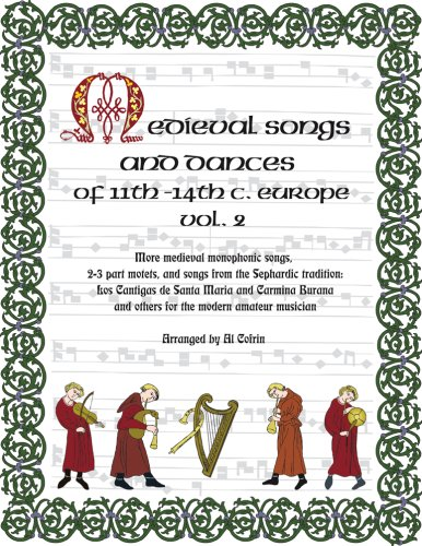 9780692000472: Medieval Songs and Dances of the 11th-14th C. Europe Vol. 2