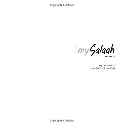 9780692436608: mySalaah 2015/2016 Islamic Planner Calendar White