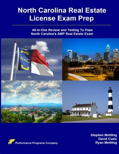 9780692445525: North Carolina Real Estate License Exam Prep: All-in-One Review and Testing To Pass North Carolina's AMP Real Estate Exam