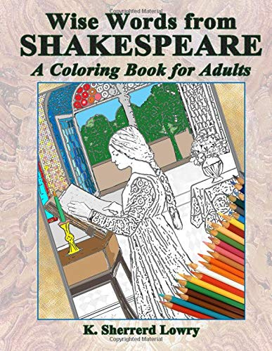 9780692538074: Wise Words from SHAKESPEARE: A Coloring Book for Adults