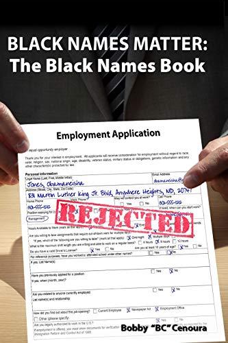 9780692570623: Black Names Matter: The Black Names Book
