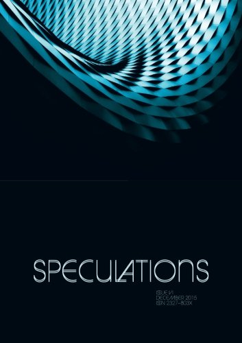 9780692593974: Speculations VI: A Journal of Speculative Reason (Volume 6)