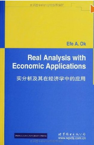 9780693317685: Real Analysis with Economic Applications