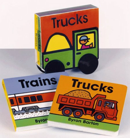 9780694012558: Trucks and Trains Board Book Set