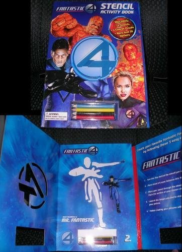 9780696225796: Fantastic 4 Stencil Activity Book: With Stickers