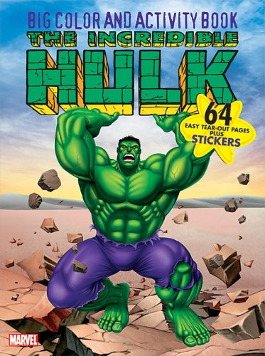 The Incredible Hulk Big Color & Activity Book: With Stickers: Marvel
