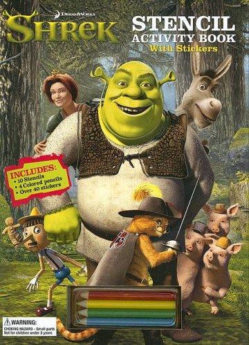 9780696228179: Shrek Stencil Activity Book: With Stickers