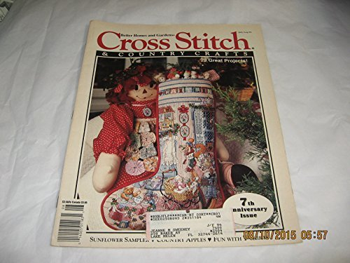 9780696705267: Better Homes And Gardens Cross Stitch & Country Crafts Magazine July/August 1992