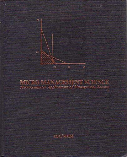 9780697003898: Micro management science: Microcomputer applications of management science