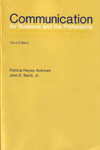 9780697004758: Communication for business and the professions