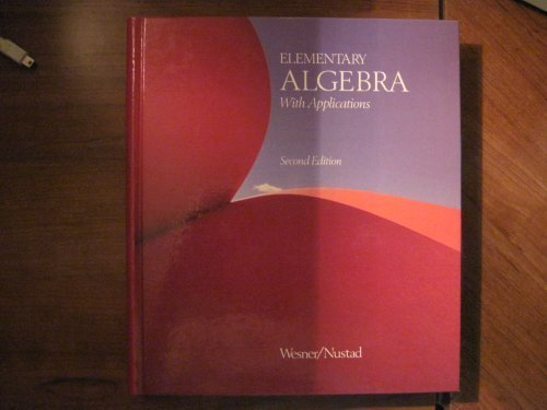 9780697007391: Elementary Algebra With Applications