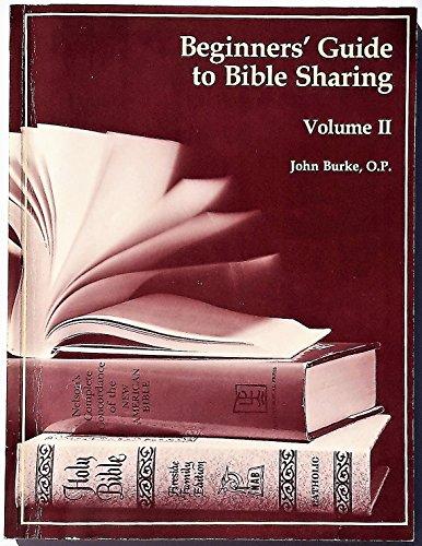 beginners' guide to bible sharing: John Burke