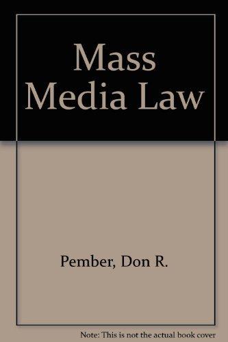 9780697030191: Mass Media Law