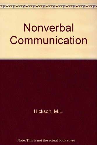 9780697030313: Nonverbal Communication Studies and Applications