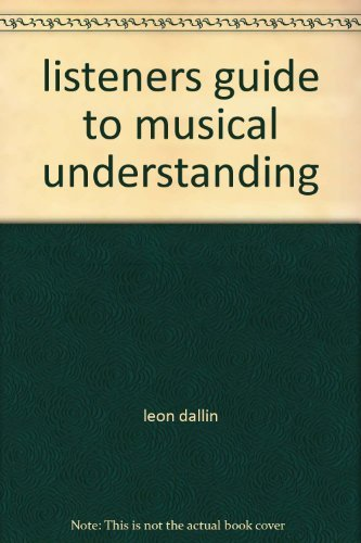 9780697035219: listeners guide to musical understanding