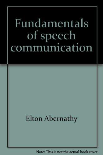 9780697041456: Fundamentals of speech communication
