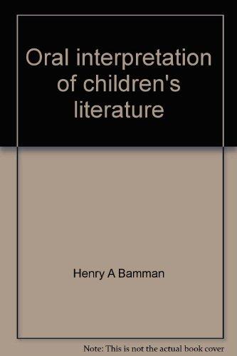 9780697041623: Oral interpretation of children's literature